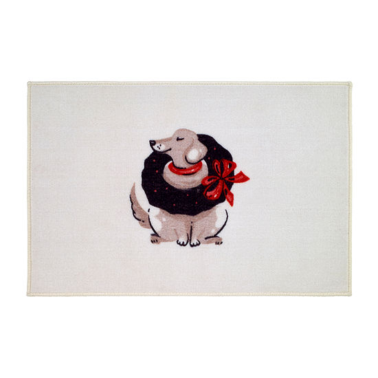 Avanti Holiday Dogs Bath Rug