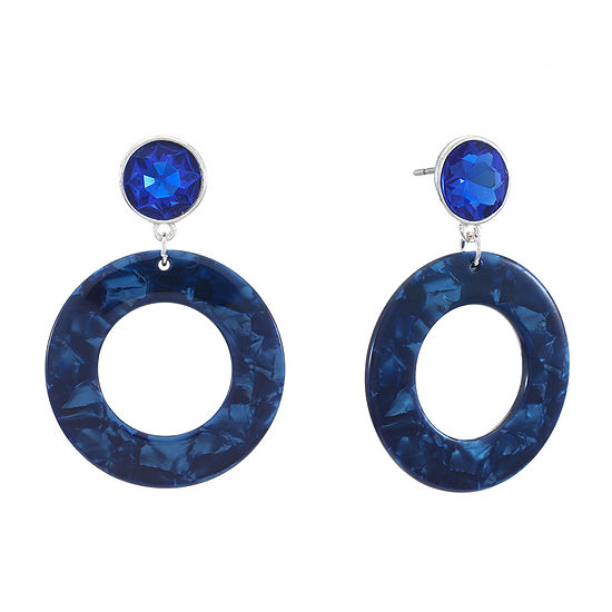 Liz Claiborne Resin Blue Drop Earrings