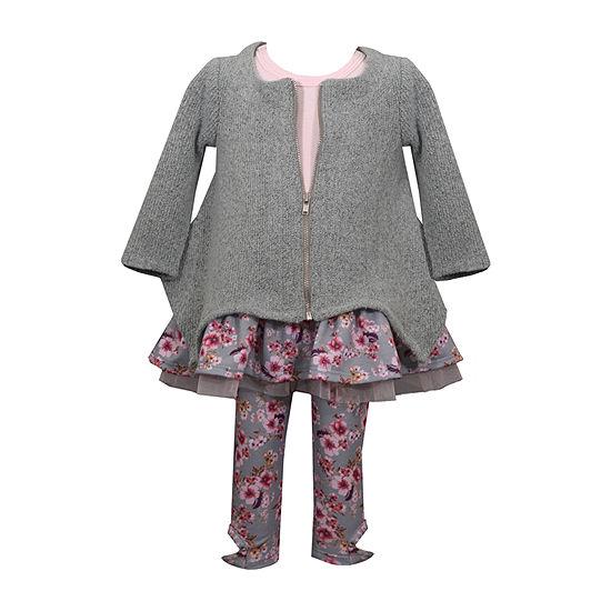 Bonnie Jean Girls 3-pc. Legging Set-Baby