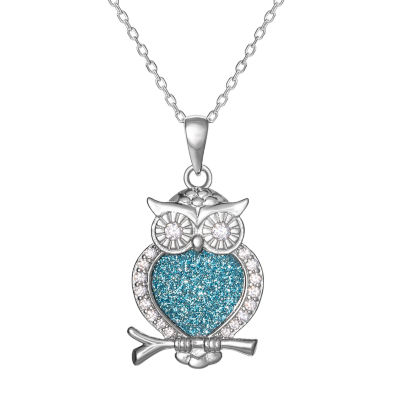 Diamonart Womens White Cubic Zirconia Sterling Silver Pendant Necklace