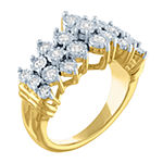 Womens 1/2 CT. T.W. Lab Grown Diamond 14K Gold Over Silver Cocktail Ring
