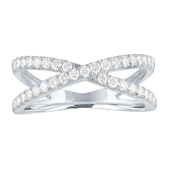 Womens 1/2 CT. T.W. Lab Grown Diamond Sterling Silver Cocktail Ring