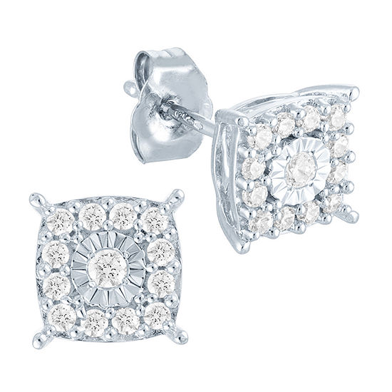 1/4 CT. T.W. Lab Grown Diamond Sterling Silver 7.2mm Stud Earrings