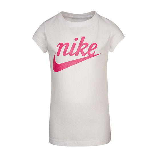 Nike Girls Round Neck Short Sleeve Graphic T-Shirt - Preschool