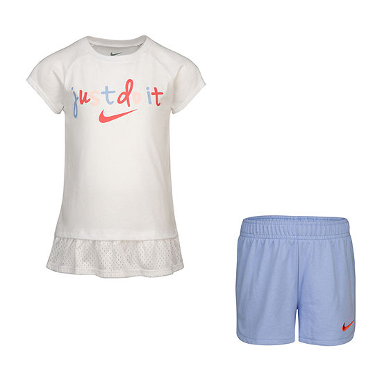 Nike Girls 2-pc. Short Set Preschool