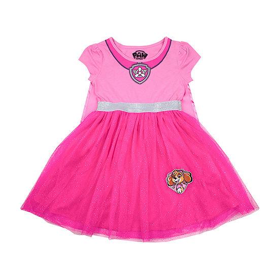 Girls Short Sleeve Paw Patrol Tutu Dress - Preschool