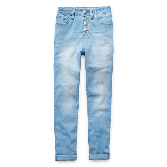 Ymi Big Girls Cuffed Skinny Fit Jean