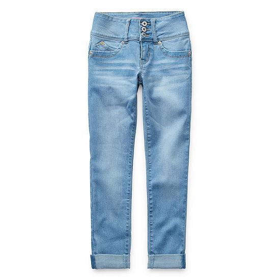 Ymi Wannabettafit 3 Button Cuffed Ankle Big Kid Girls Stretch Skinny Fit Jean