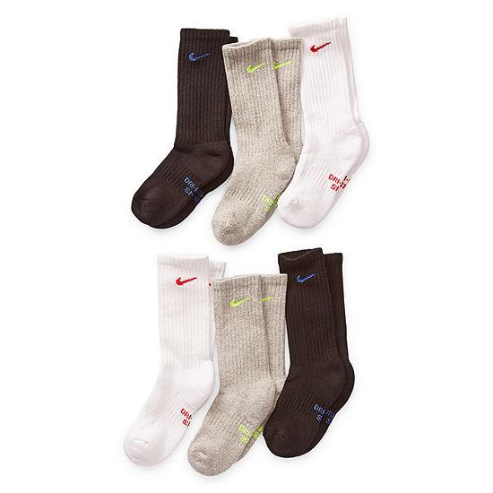 Nike Big Boys 6 Pair Crew Socks