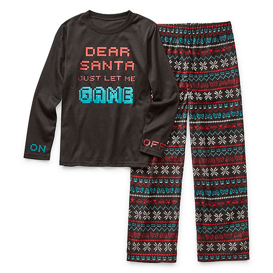 Arizona Christmas Boys 2-pc. Pant Pajama Set Preschool / Big Kid