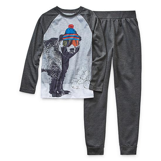 Arizona Boys 2-pc. Pant Pajama Set Preschool / Big Kid