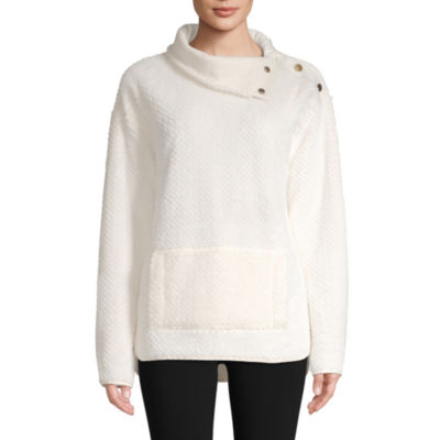 St. John's Bay Active Sherpa Midweight Faux Fur Pullover