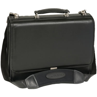 "McKleinUSA Bucktown 15.6"" Leather Double Compartment Laptop Briefcase"