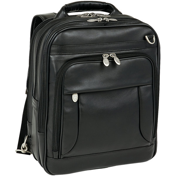 "McKleinUSA Lincoln Park 15.6"" Leather Three-Way Backpack Laptop Briefcase"