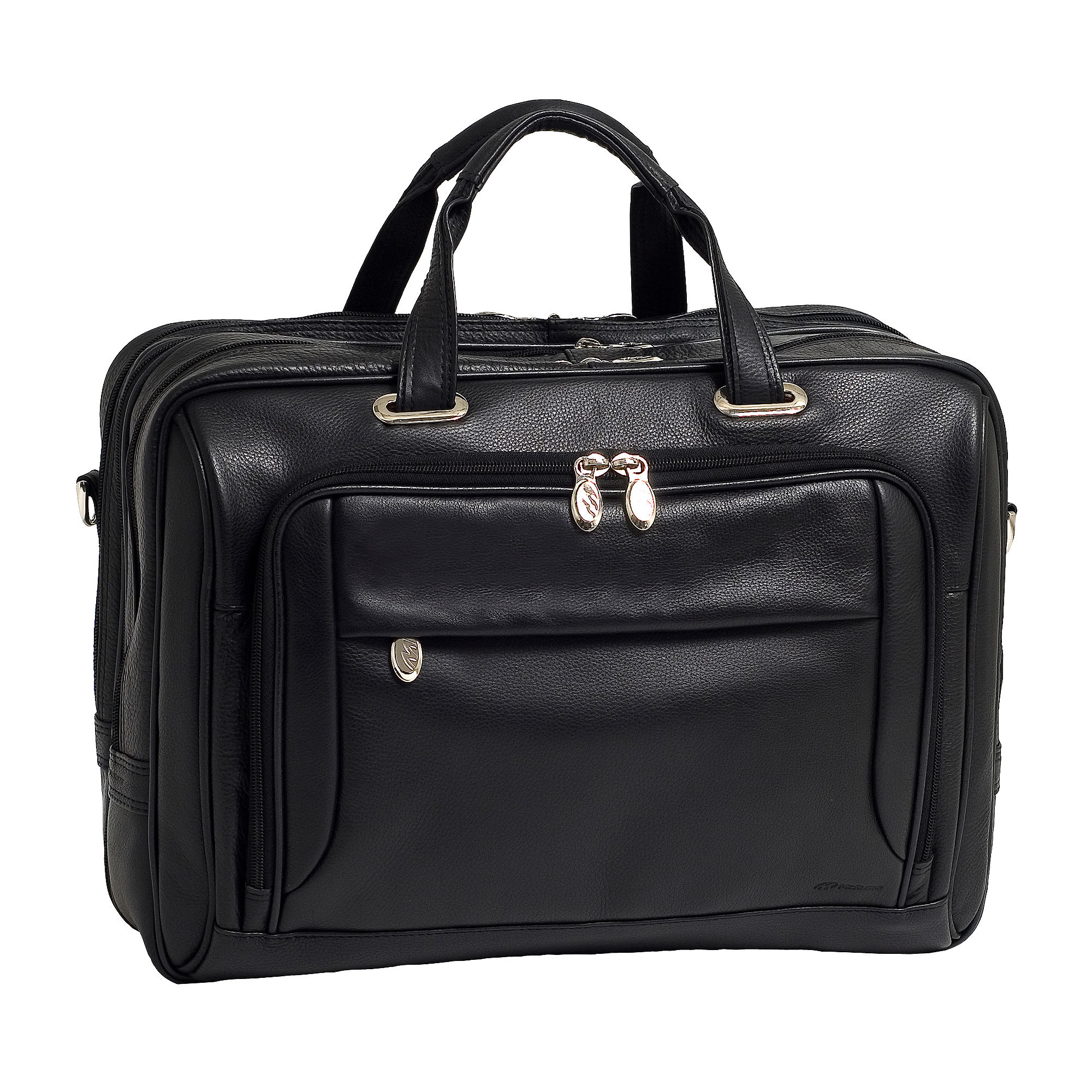 "McKleinUSA West Loop 15.6"" Leather Expandable Double Compartment Briefcase"