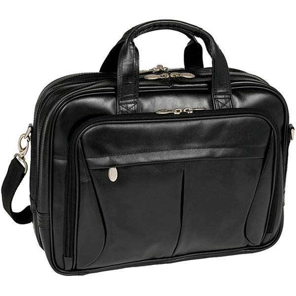 "McKleinUSA Pearson 17"" Leather Expandable Double Compartment Laptop Briefcase"