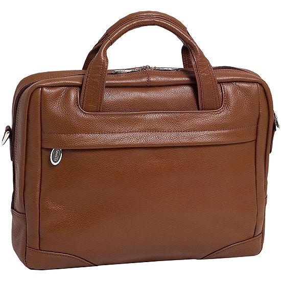 """McKleinUSA Bronzeville 15.4"""" Leather Medium Laptop Briefcase"""