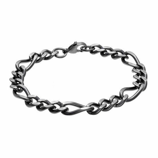 Stainless Steel 8.5 Inch Figaro Chain Bracelet