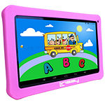 "LINSAY 10.1"" Quad-Core 2GB RAM 16GB Android 9.0 Pie Tablet with Pink Kids Defender Case"