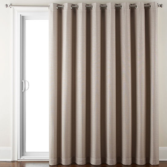 JCPenney Home Quinn Basketweave Grommet Top Patio Panel