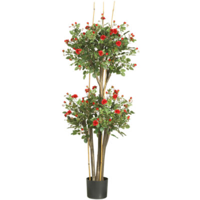 Nearly Natural 5' Mini Rose Silk Tree