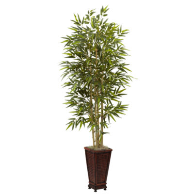 6' Bamboo Tree With Decorative Planter