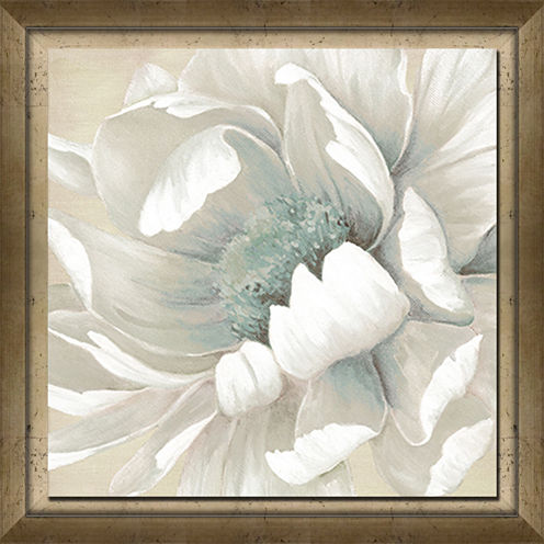 Winter Blooms II Framed Canvas Art