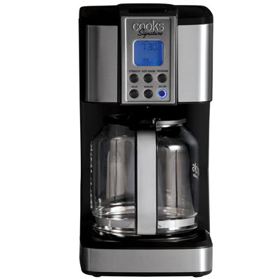 cooks signature 14 cup programmable coffee maker 24000 jcpenney rh jcpenney com Cooks Coffee Maker Programmable Cooks Coffee Maker Programmable