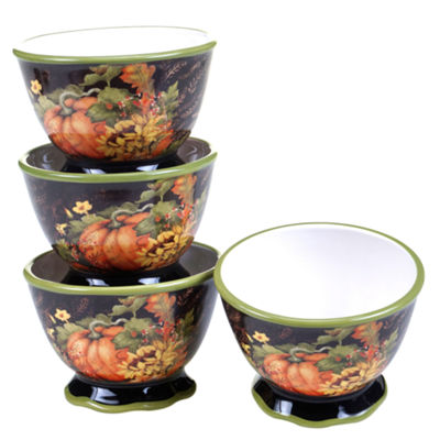 Certified International Botanical Harvest 4-pc. Ice Cream Bowl
