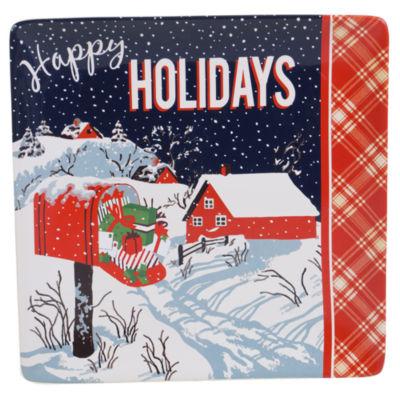 Certified International Retro Christmas Serving Platter