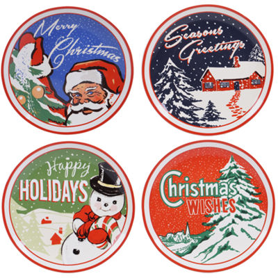 Certified International Retro Christmas 4-pc. Dinner Plate