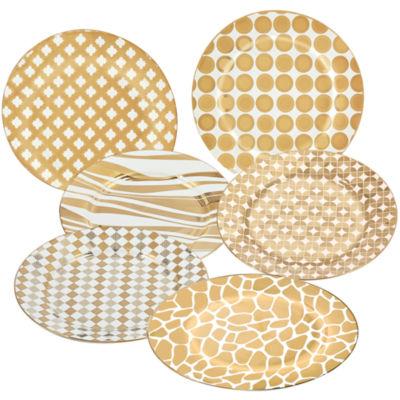 Certified International Elegance Gold 4-pc. Dessert Plate