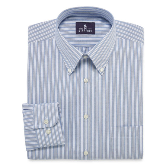 Stafford®  Travel Wrinkle-Free Oxford Long Sleeve Dress Shirt - Big & Tall