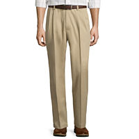 Deals on St. Johns Bay Easy-Care Pleat-Front Cotton Pants