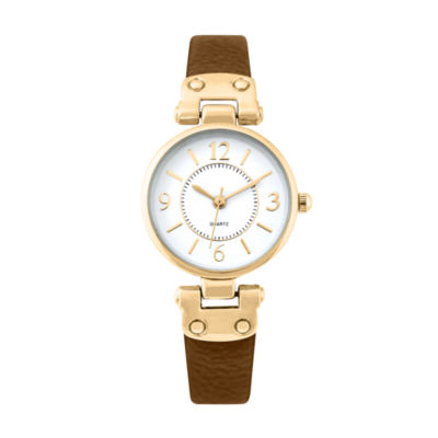 Mixit Womens Brown Strap Watch-Pts1064gdbr