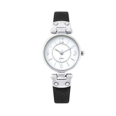 Mixit Womens Black Strap Watch-Pts1064slbk
