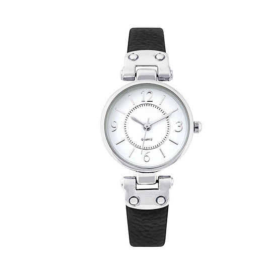 Mixit Womens Black Strap Watch-Pts1064slbk