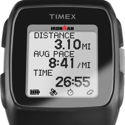 Timex Ironman Gps Unisex Black Smart Watch-Tw5m11700f5