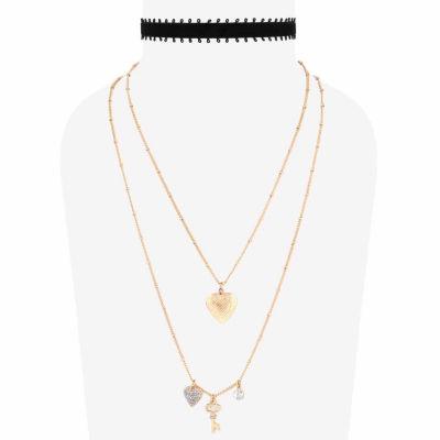 Decree Womens 2-pack Necklace Set