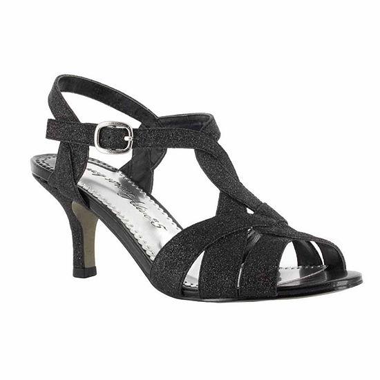 Easy Street Womens Glamorous Pumps Buckle Open Toe Spike Heel