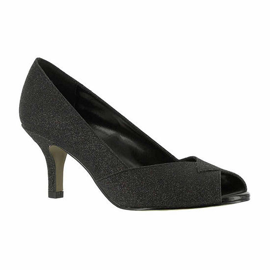 Easy Street Womens Ravish Pumps Peep Toe Kitten Heel