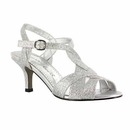 Easy Street Womens Glamorous Pumps Spike Heel, 7 1/2 Medium, Silver
