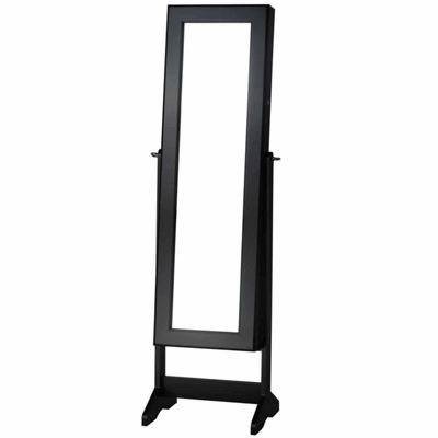 Black Cheval Free Standing Jewelry Armoire
