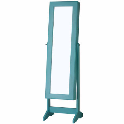 Turquoise Cheval Free Standing Jewelry Armoire