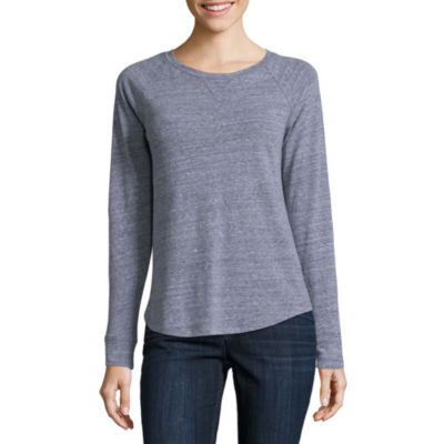 Liz Claiborne Long Sleeve T-Shirt-Womens Talls