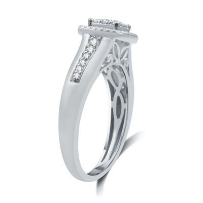I Said Yes Womens 3/8 CT. T.W. Genuine White Diamond Platinaire Bridal Set