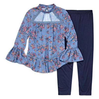 Knit Works Illusion Trim Legging Set - Girls' 7-16 & Plus