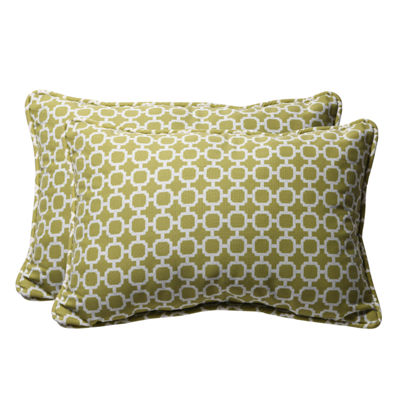 Pillow Perfect Hockley Rectangular Outdoor Pillow- Set of 2