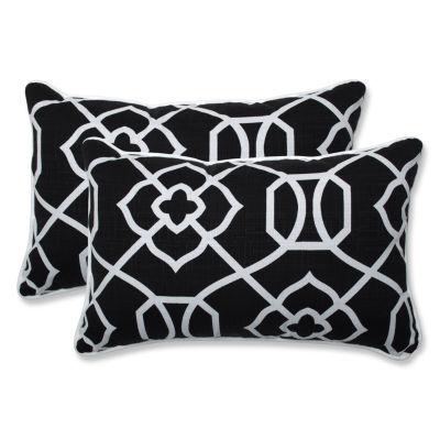Pillow Perfect Kirkland Rectangular Outdoor Pillow- Set of 2