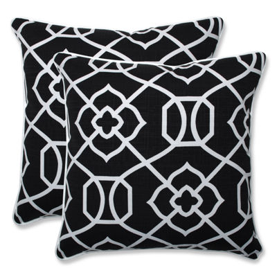 Pillow Perfect Kirkland Square Outdoor Pillow - Set of 2